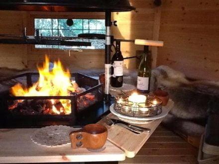 Interior BBQ Hut