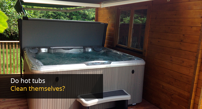 Do hot tubs clean themselves?