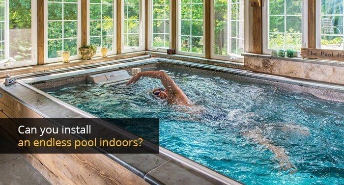 Endless pool indoors