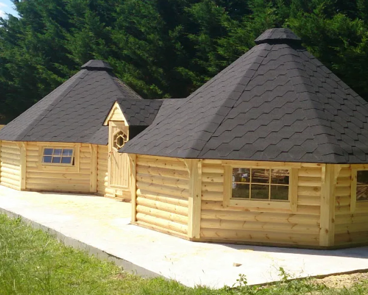 Traditional Style 16.5 sq.m. Double BBQ Hut