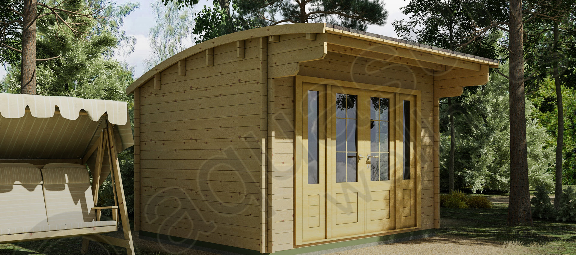 Curved roof 3x3.5m