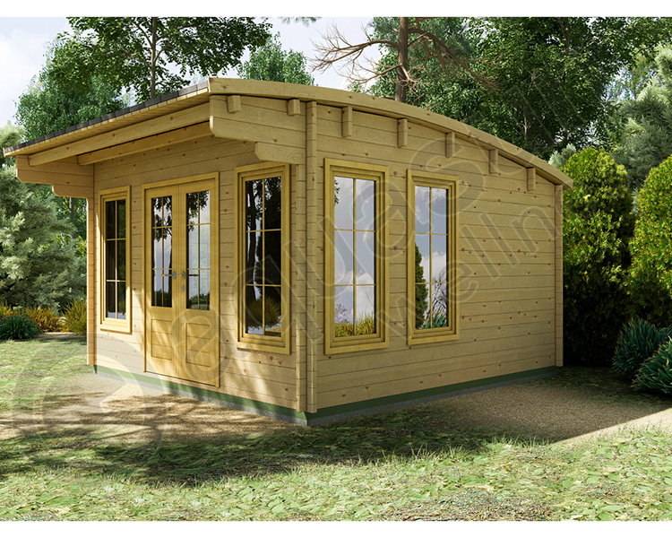 5.9m x 4.5m Curved Roof Cabin